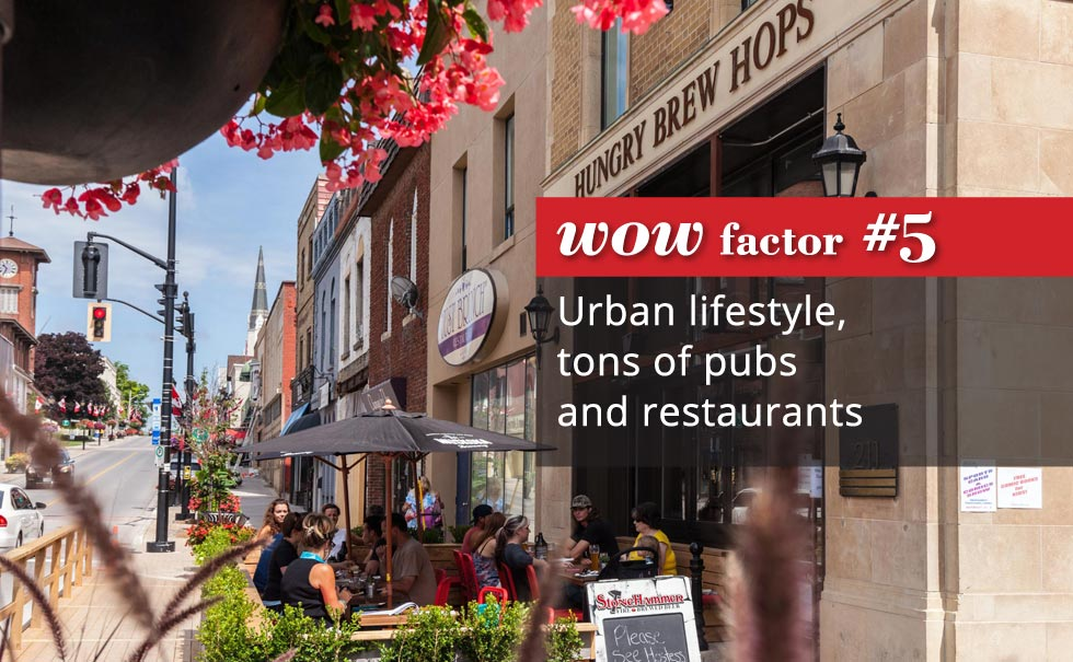 Urban lifestyle, tons of pubs and restaurants