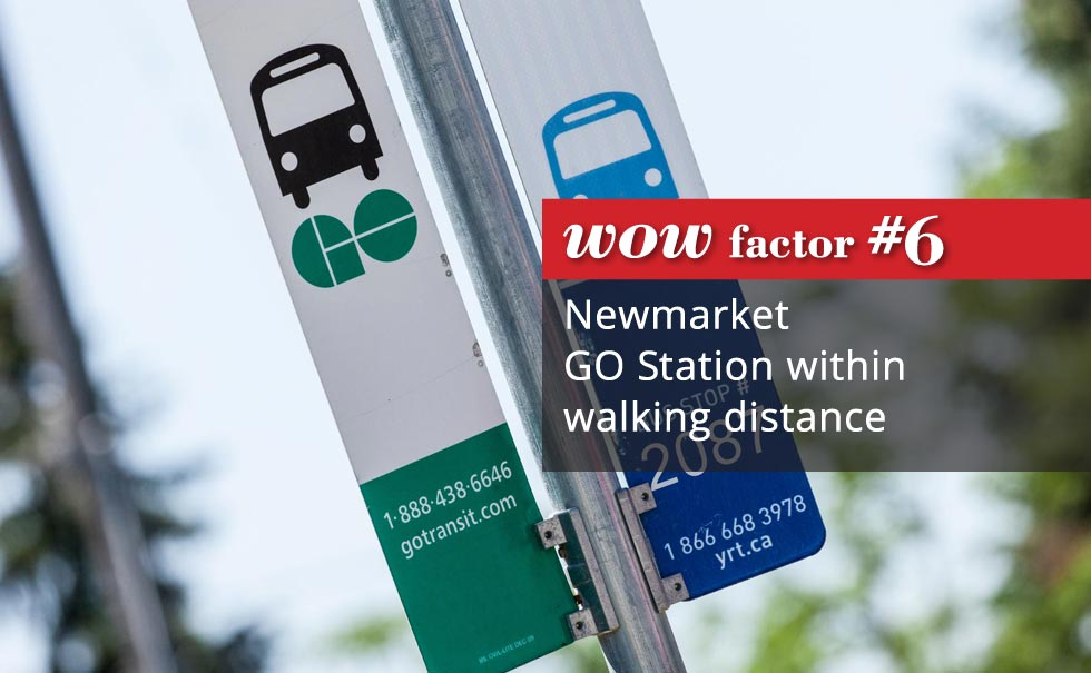 Newmarket Go station within walking distance