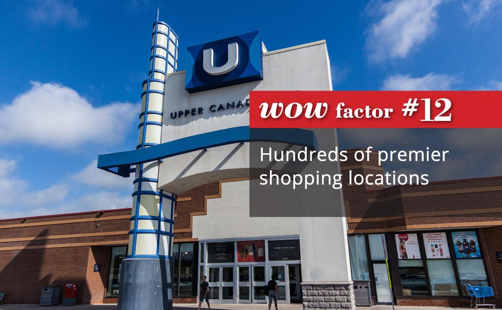 Hundreds of premier shopping locations